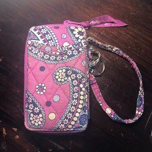 Vera Bradley mini zip wallet
